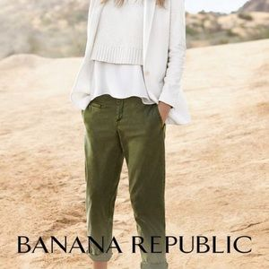 Banana Republic Chino Boyfriend Crop Sz 0